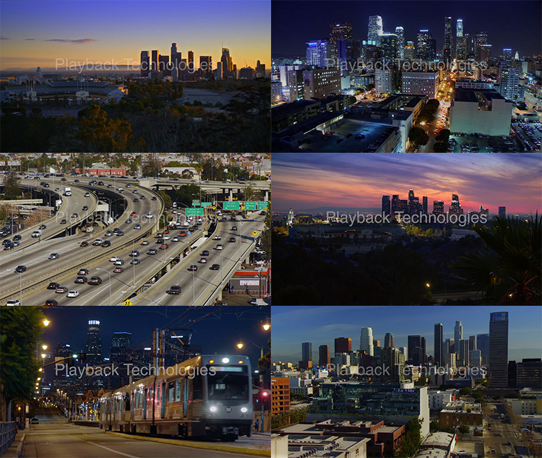 los angeles stock footage